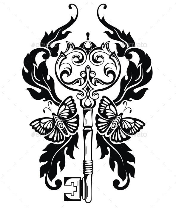 Key - Backgrounds Decorative