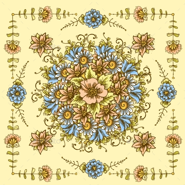Vintage Floral Pattern - Flourishes / Swirls Decorative