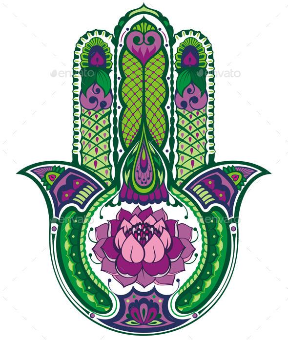 Hamsa Hand - Decorative Symbols Decorative