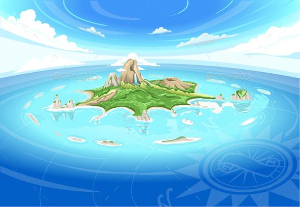 Adventure Island - Treasure Island - Travel Conceptual