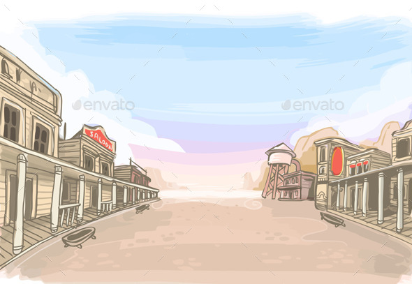 Old Wilde West Scenery - Travel Conceptual