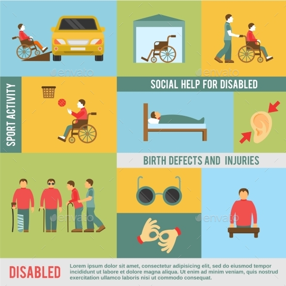 Disabled Icons Set - Health/Medicine Conceptual