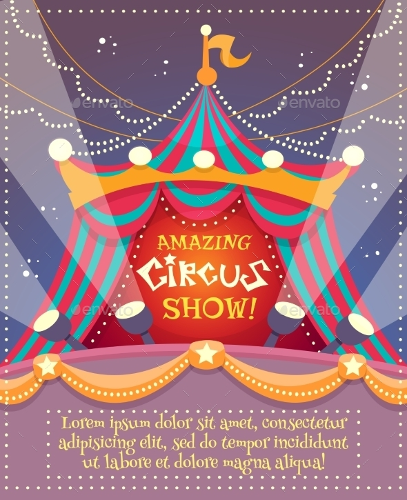 Circus Vintage Poster - Backgrounds Decorative