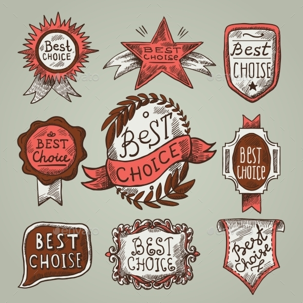 Best Choice Labels - Decorative Symbols Decorative