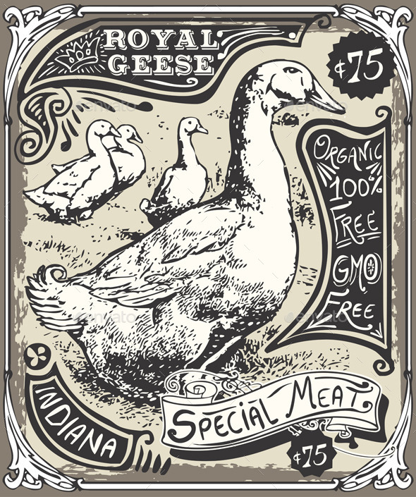 Vintage Goose Advertising - Food Objects