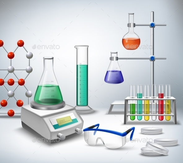 Science Lab Background By Macrovector