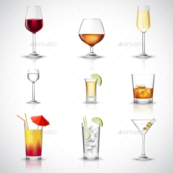Alcohol Realistic Set - Food Objects