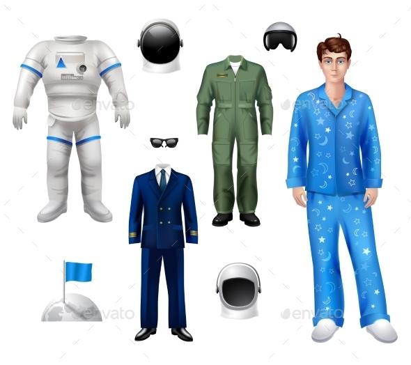 Astronaut Boy Set - People Characters