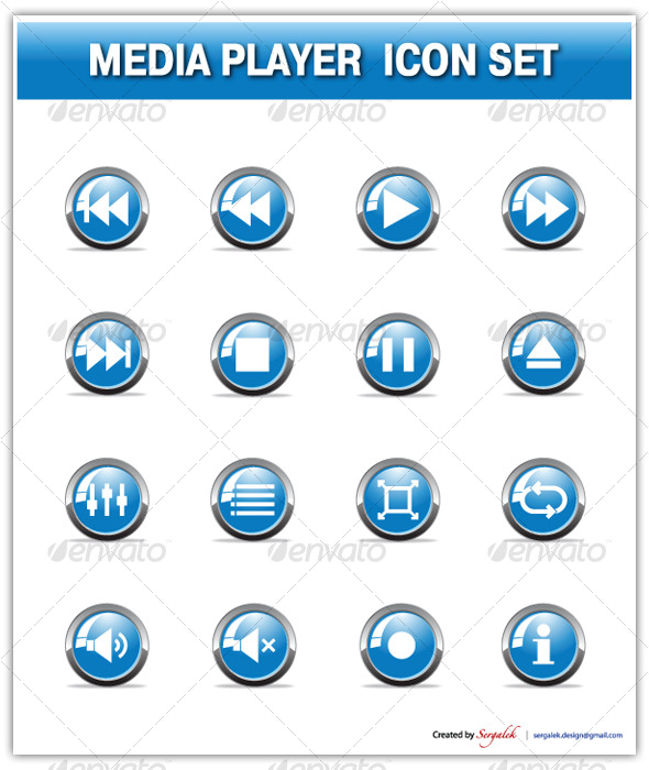 Media Player Icon Set ...