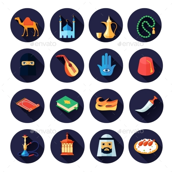 Arabic Culture Icon Flat - Miscellaneous Icons