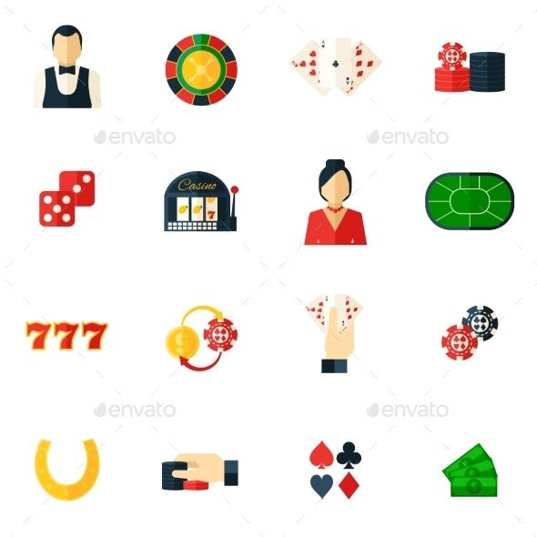 Casino Icon Flat - Miscellaneous Icons