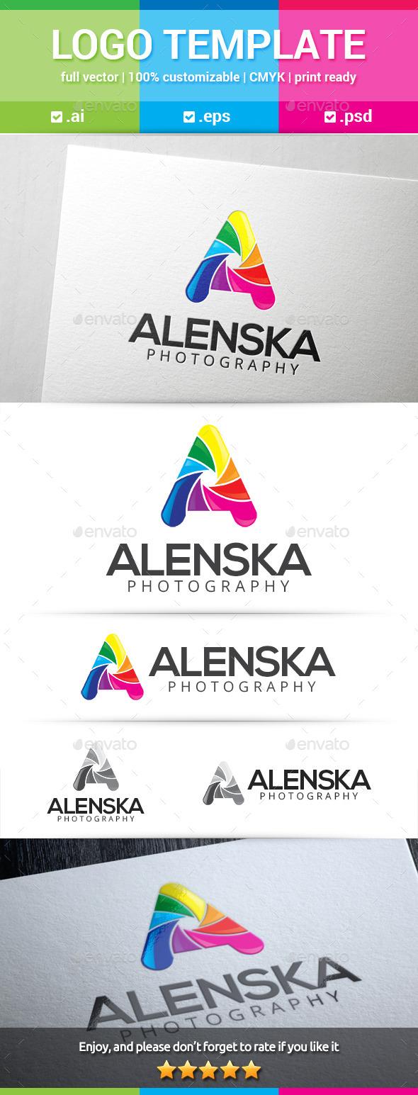 Alenska Letter A Logo - Letters Logo Templates