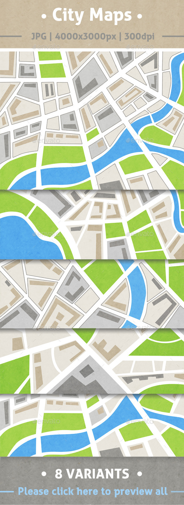 City maps - Backgrounds Graphics