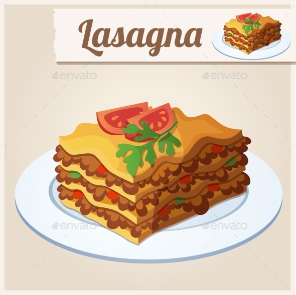 Lasagna - Food Objects