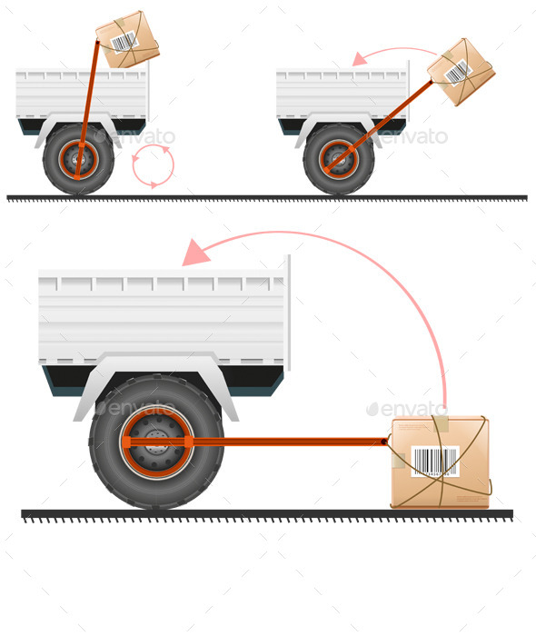 Loading Cargo in the Truck - Man-made Objects Objects