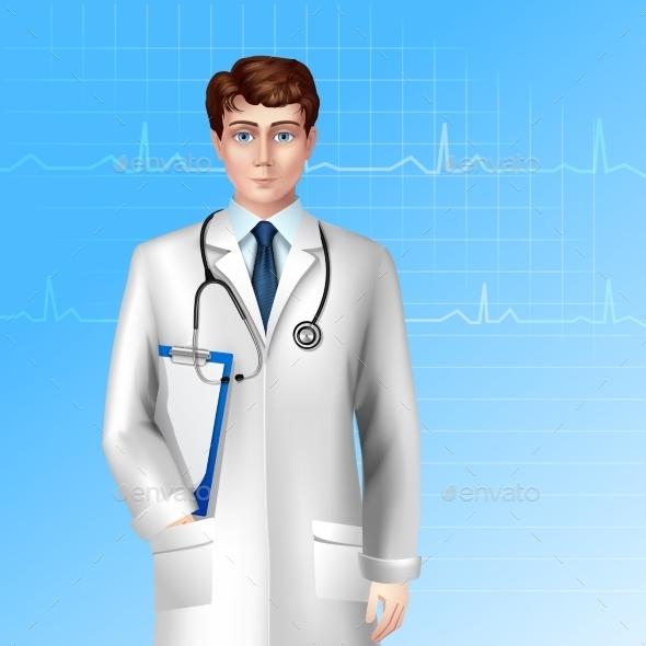 Male Doctor Poster - Health/Medicine Conceptual