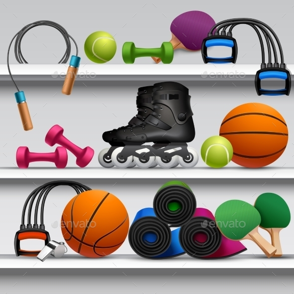 Sport Store Shelf - Sports/Activity Conceptual