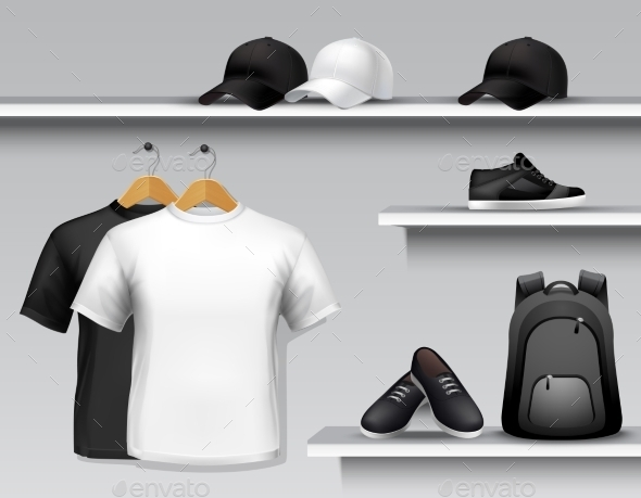 Sportswear Store Shelf - Sports/Activity Conceptual
