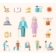 Senior Lifestyle Flat Icons - GraphicRiver Item for Sale