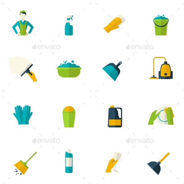 Cleaning Icon Flat - Objects Icons