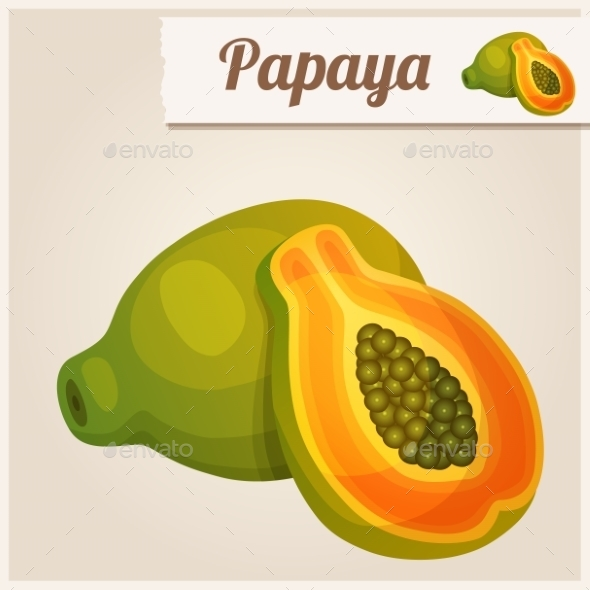 Papaya - Food Objects