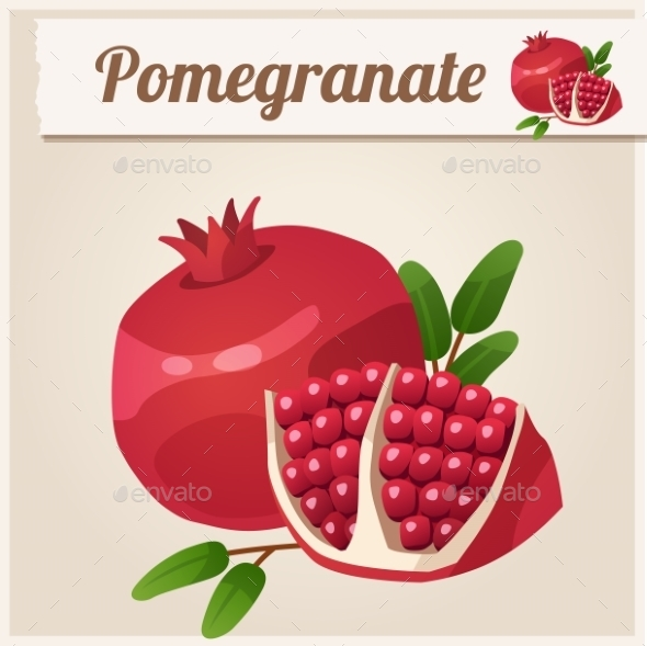 Pomegranate - Food Objects