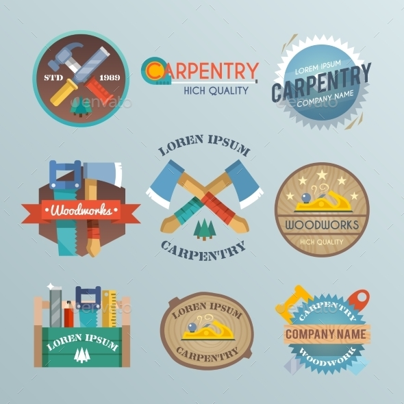 Carpentry Label Set - Industries Business
