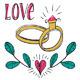 Hand Drawn Wedding Set - GraphicRiver Item for Sale