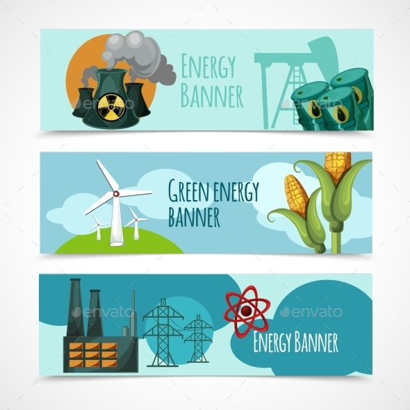 Energy Banner Set - Industries Business