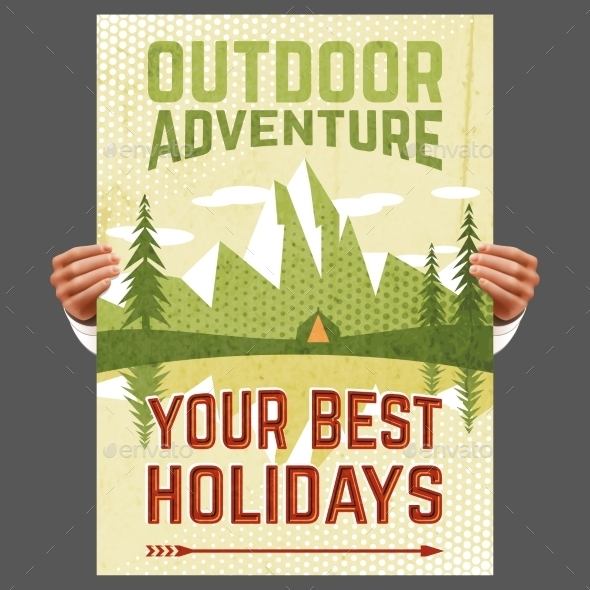 Outdoor Adventure Tourism Poster - Landscapes Nature