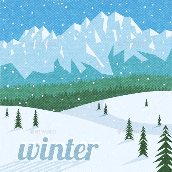 Winter landscape tourism background  - Landscapes Nature