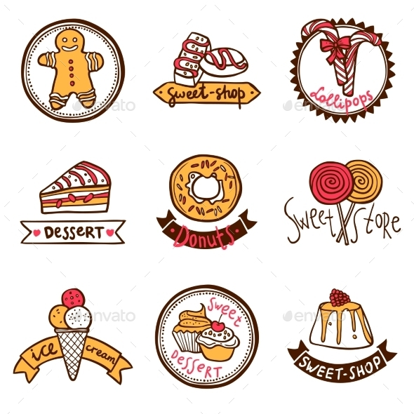 Sweet Shop Emblems - Retail Commercial / Shopping