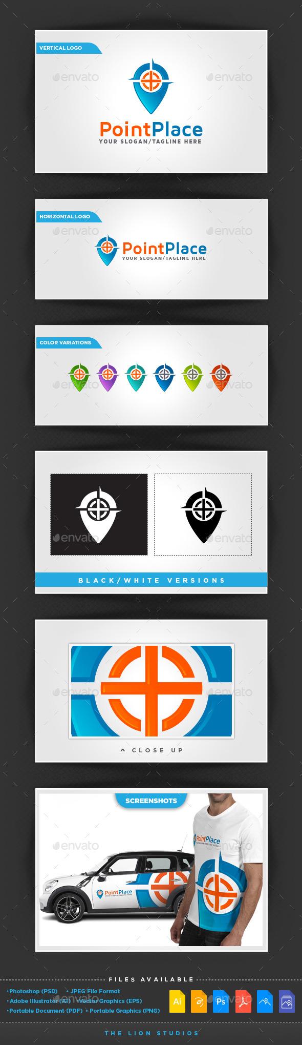 Point Place Logo - Symbols Logo Templates
