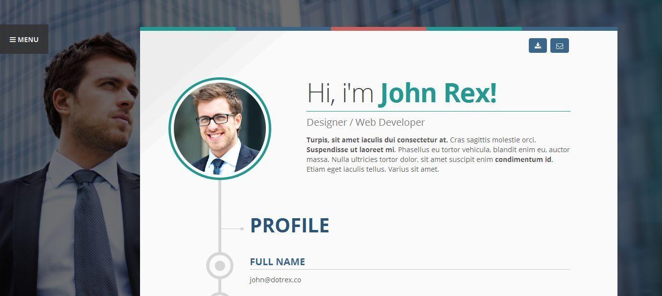 Vertica - WP Resume / CV & Portfolio by 3jon | ThemeForest