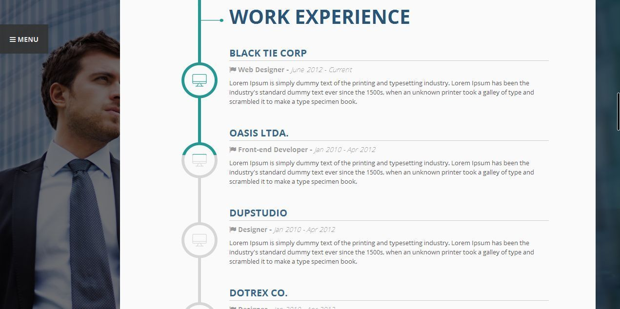 Vertica Wp Resume Cv Portfolio By 3jon Themeforest