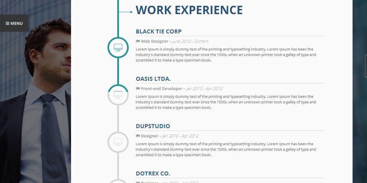 vertica wp resume cv portfolio by 3jon themeforest