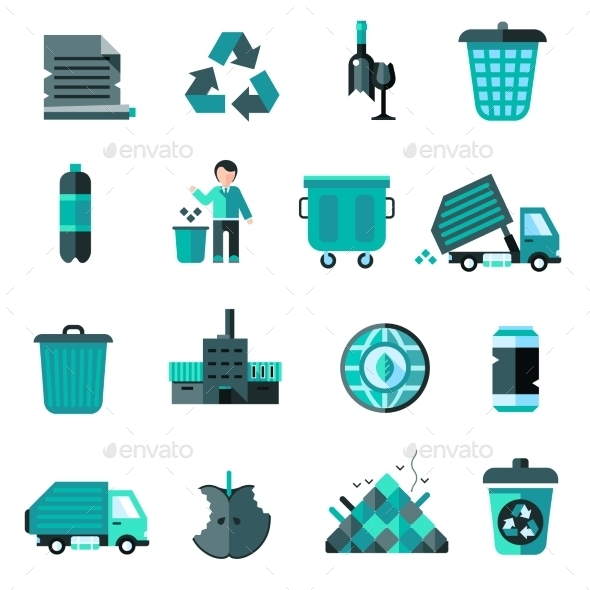 Garbage Icons Set - Miscellaneous Icons