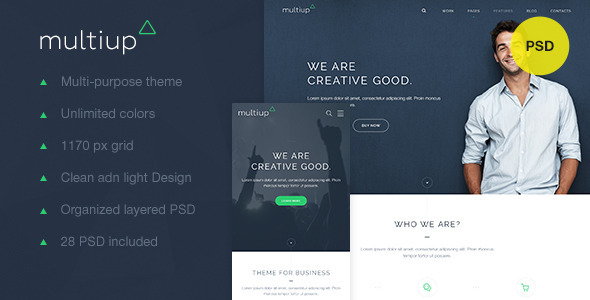 MultiUp — Multi-Purpose Business PSD - Corporate PSD Templates