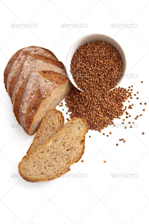 Bread with buckwheat - Stock Photo - Images