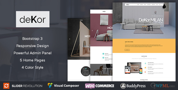 deKor – Interior WordPress Theme