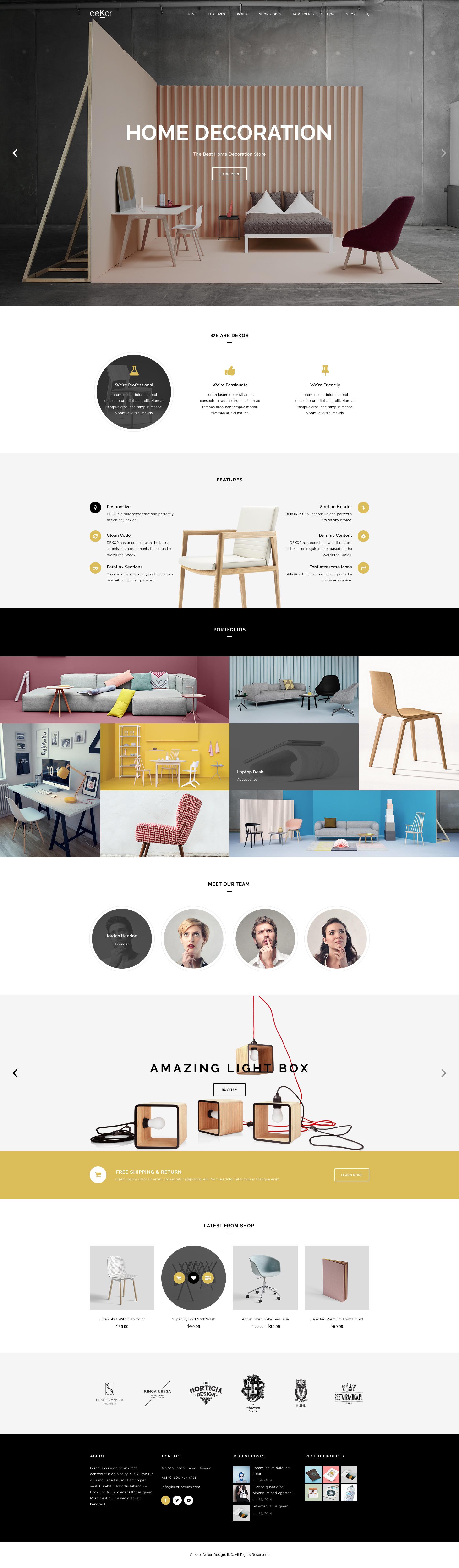 dekor interior wordpress theme by templaza themeforest