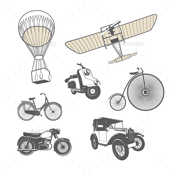 Set of Retro Transport - Vectors