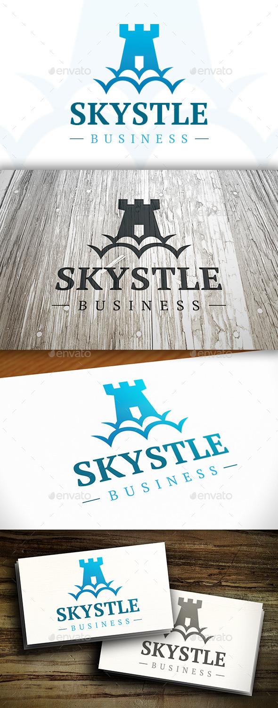 Sky Castle Logo - Buildings Logo Templates