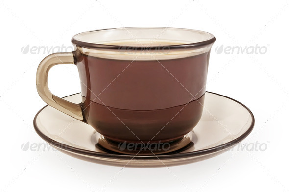 Brown cup of coffee - Stock Photo - Images