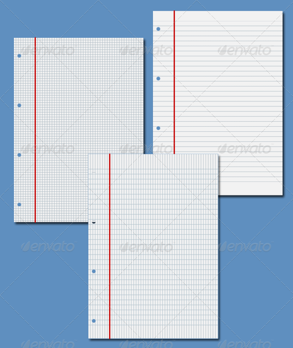 NotePad Paper - Backgrounds Graphics