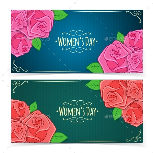 Banners for Women's Day - Decorative Vectors