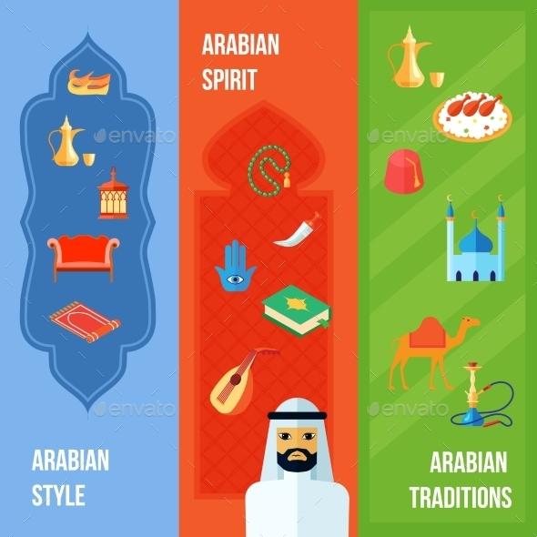 Arabic Culture Banner - Travel Conceptual