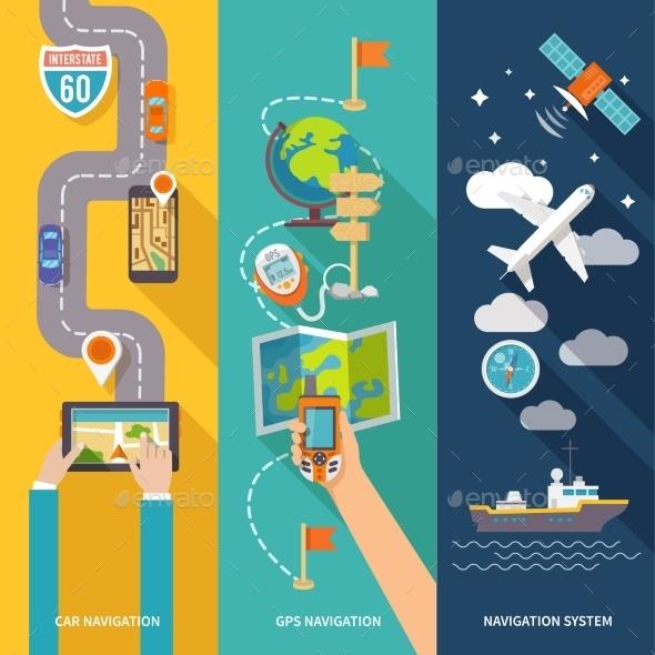 Navigation Banner Set - Computers Technology