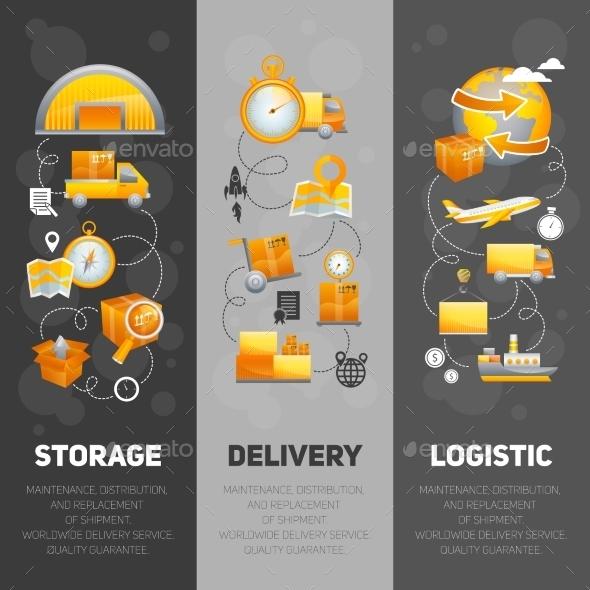 Logistics Banners Set - Business Conceptual