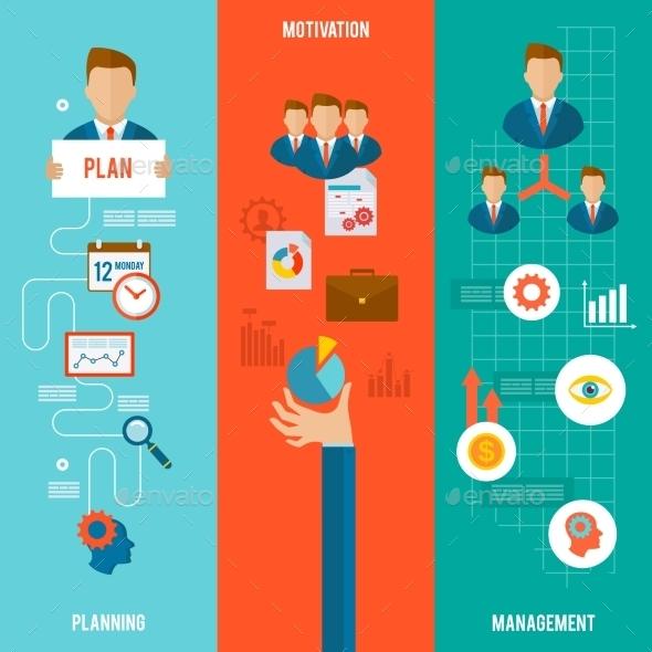 Management Banner Set - Business Conceptual